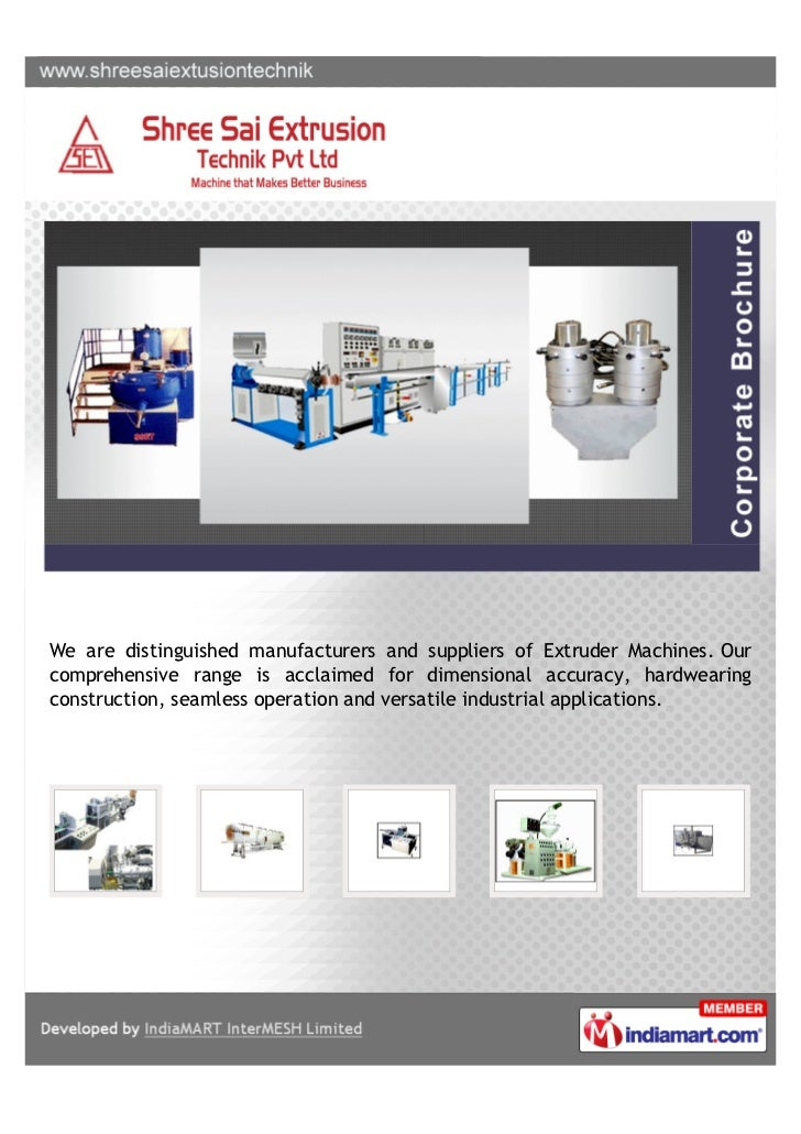 We are distinguished manufacturers and suppliers of Extruder Machines. Ourcomprehensive range is acclaimed for dimensional...