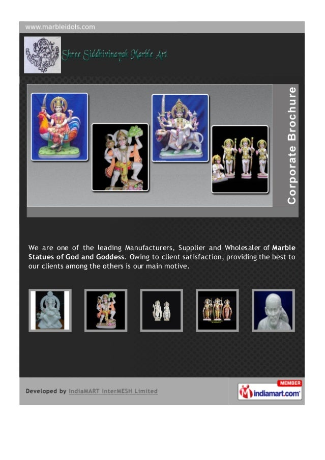 We are one of the leading Manufacturers, Supplier and Wholesaler of MarbleStatues of God and Goddess. Owing to client sati...