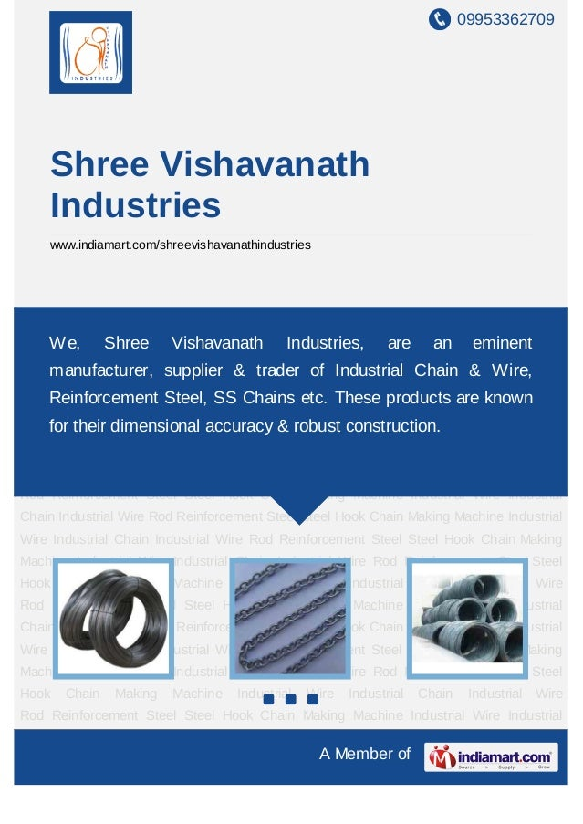 09953362709    Shree Vishavanath    Industries    www.indiamart.com/shreevishavanathindustriesIndustrial Wire Industrial C...