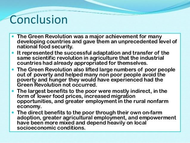 Essay on green revolution