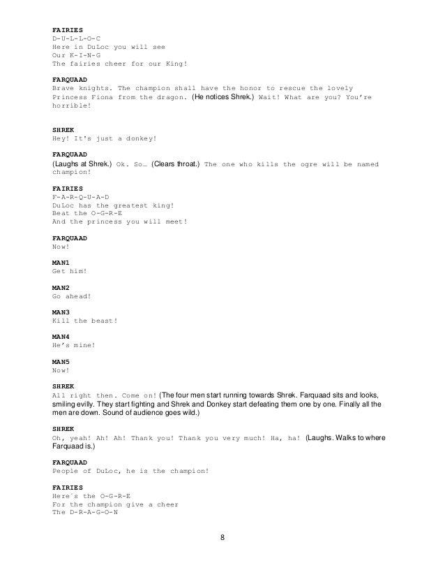 shrek the musical script free download