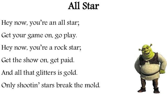 Shrek song words3