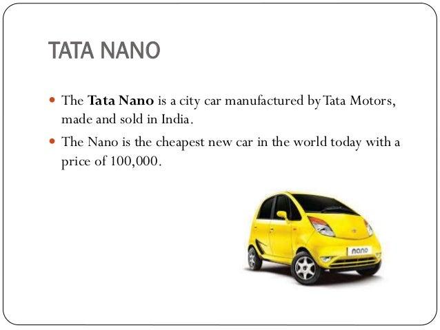 Scm system of automobile industry tata nano cheapraybanclubmaster Choice Image