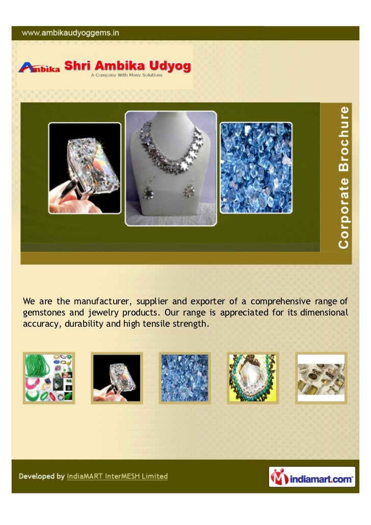 We are the manufacturer, supplier and exporter of a comprehensive range ofgemstones and jewelry products. Our range is app...
