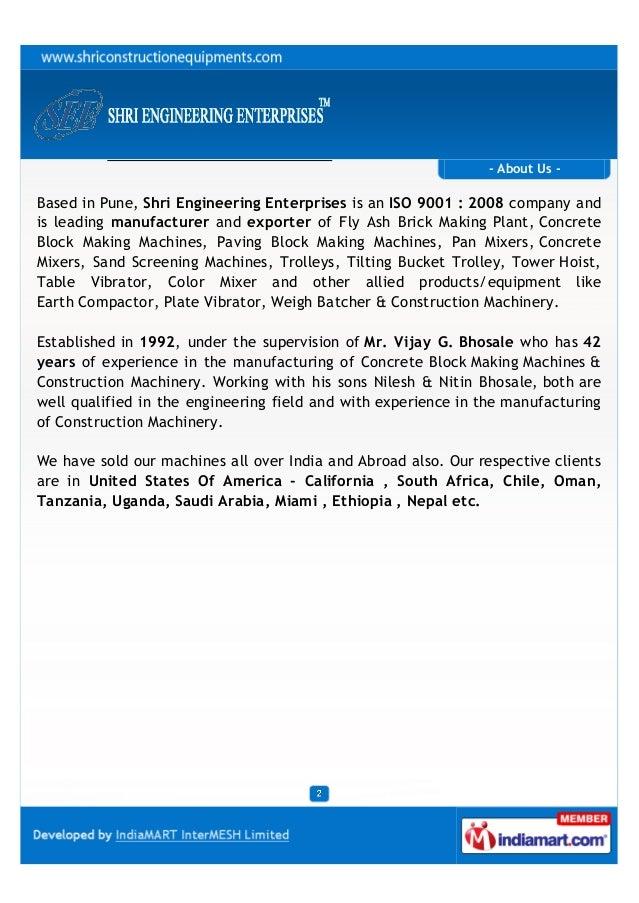 Shri Engineering Enterprises, Pune, Construction Machinery
