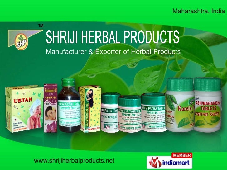 Maharashtra, India <br />Manufacturer & Exporter of Herbal Products<br />