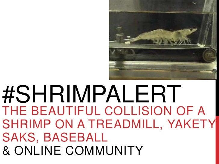 #SHRIMPALERTTHE BEAUTIFUL COLLISION OF ASHRIMP ON A TREADMILL, YAKETYSAKS, BASEBALL& ONLINE COMMUNITY