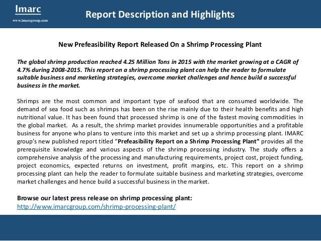 food processing project report pdf