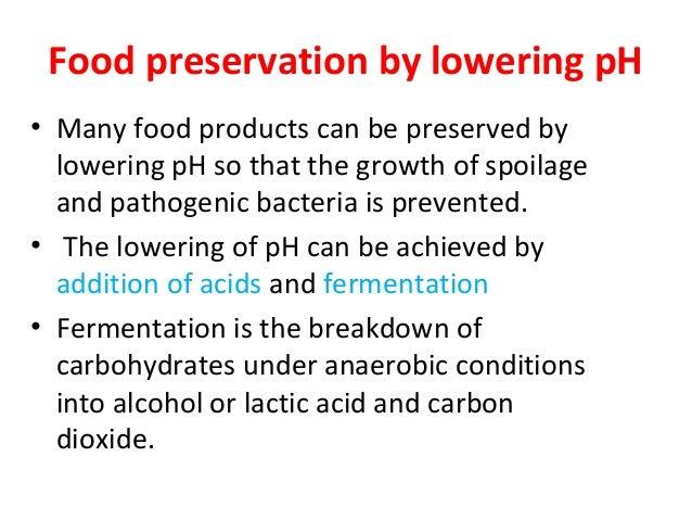 Effect of pH ona food preservative Essay