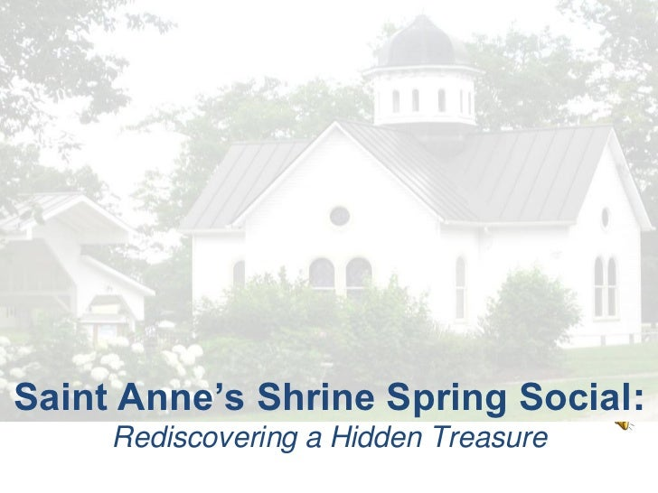 The Shrine Spring Social: Rediscovering a Hidden Treasure