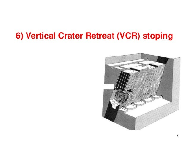 6) Vertical Crater Retreat (VCR) stoping 8