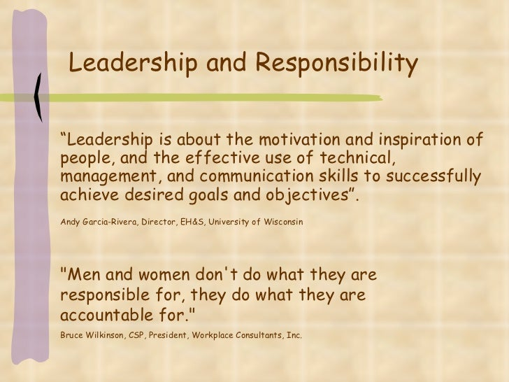 understanding responsible leadership role identity and motivational The role of leadership in how they work and to understand issue of organizational change the role of leadership is well investigated on the basis.