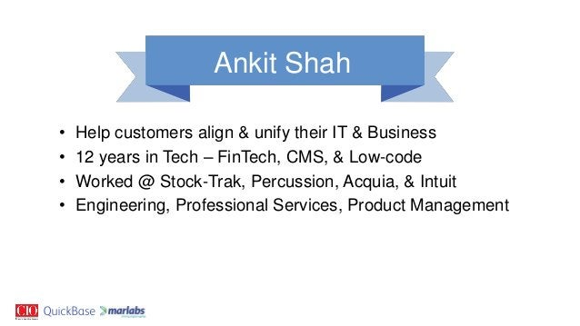 • Help customers align & unify their IT & Business • 12 years in Tech – FinTech, CMS, & Low-code • Worked @ Stock-Trak, Pe...