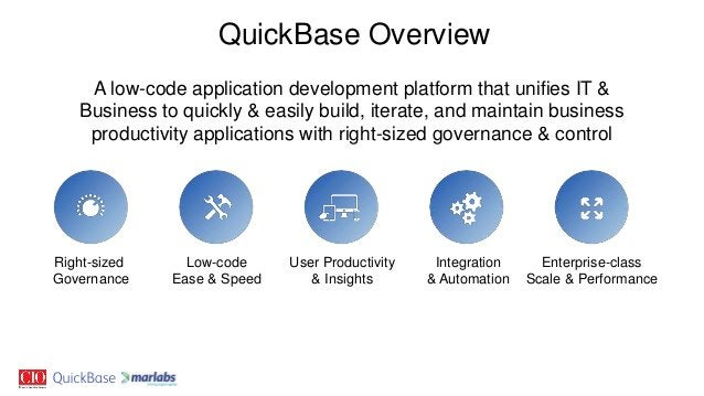 A low-code application development platform that unifies IT & Business to quickly & easily build, iterate, and maintain bu...