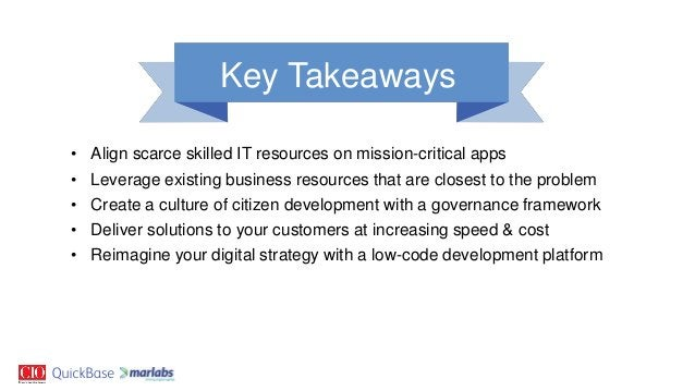 • Align scarce skilled IT resources on mission-critical apps • Leverage existing business resources that are closest to th...