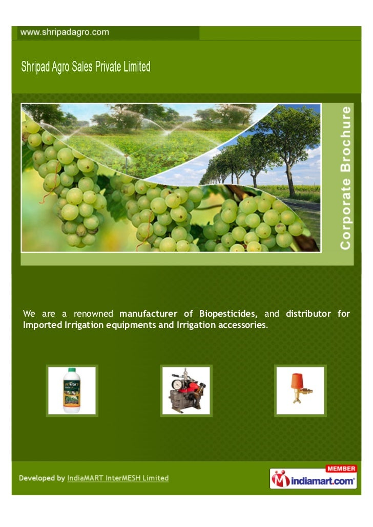 We are a renowned manufacturer of Biopesticides, and distributor forImported Irrigation equipments and Irrigation accessor...