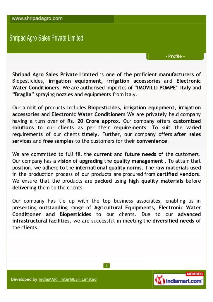 Shripad Agro Sales Private Limited, Nashik, Irrigation Products Slide 2