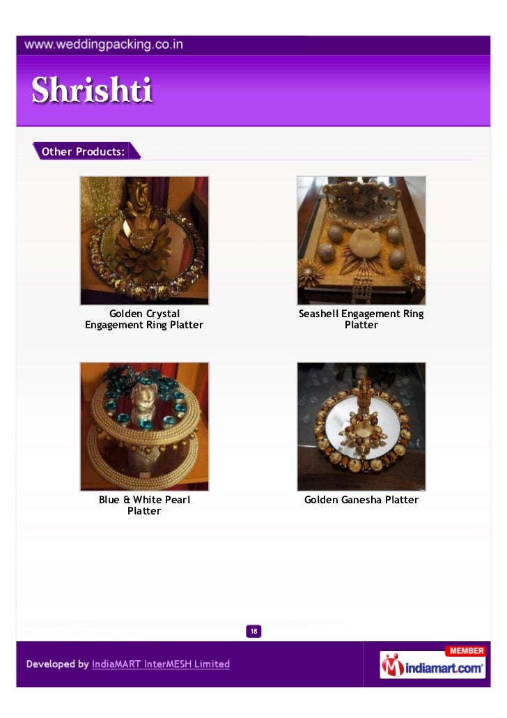 Other Products:           Golden Crystal             Seashell Engagement Ring       Engagement Ring Platter               ...