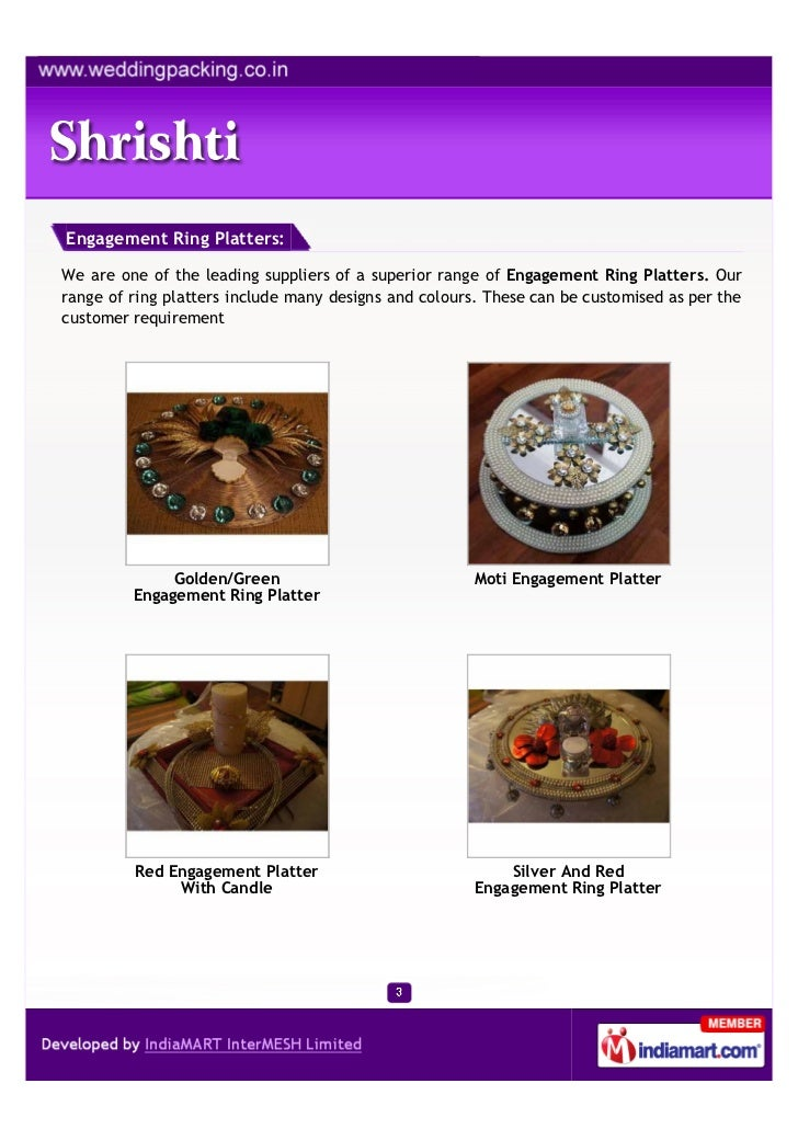 Engagement Ring Platters:We are one of the leading suppliers of a superior range of Engagement Ring Platters. Ourrange of ...