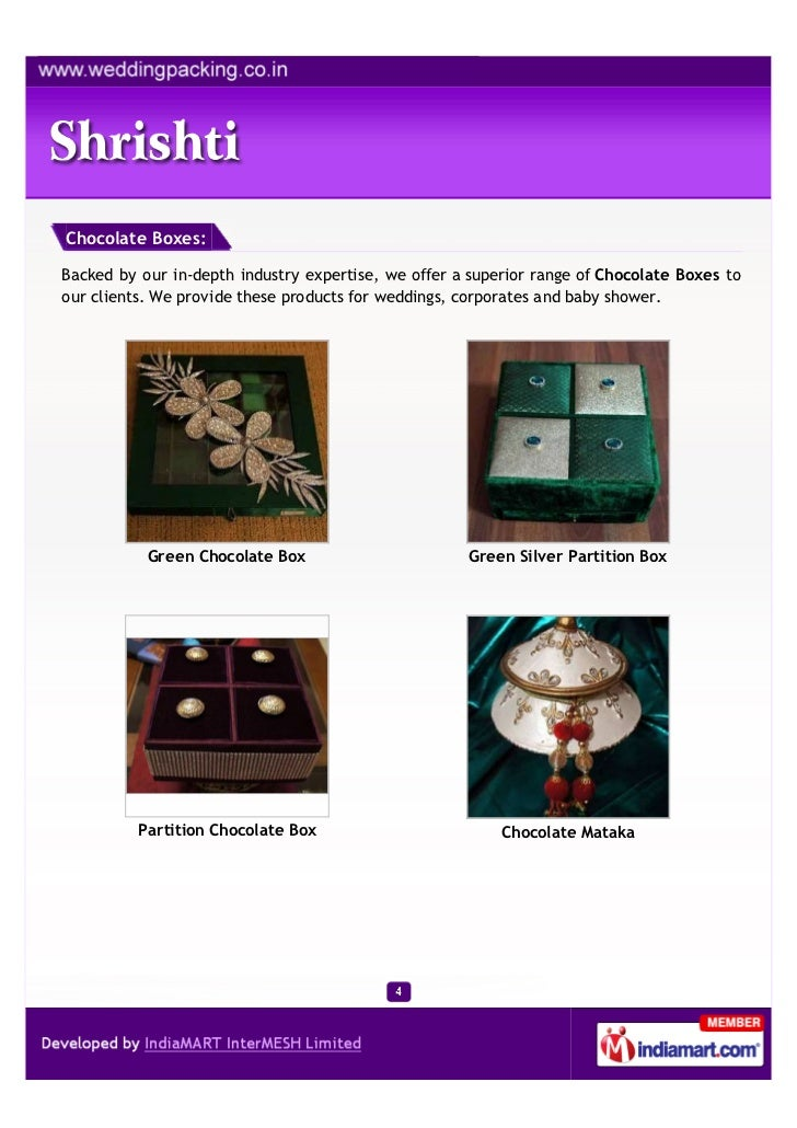 Chocolate Boxes:Backed by our in-depth industry expertise, we offer a superior range of Chocolate Boxes toour clients. We ...