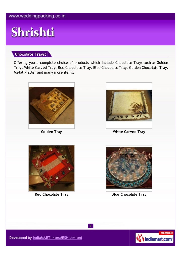 Chocolate Trays:Offering you a complete choice of products which include Chocolate Trays such as GoldenTray, White Carved ...