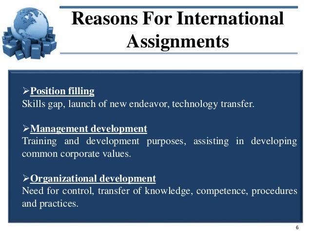 International assignment manager