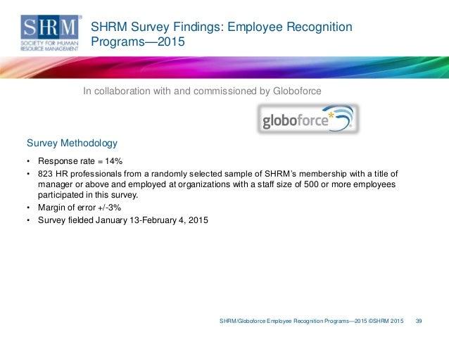 SHRM/Globoforce Employee Recognition Programs—2015