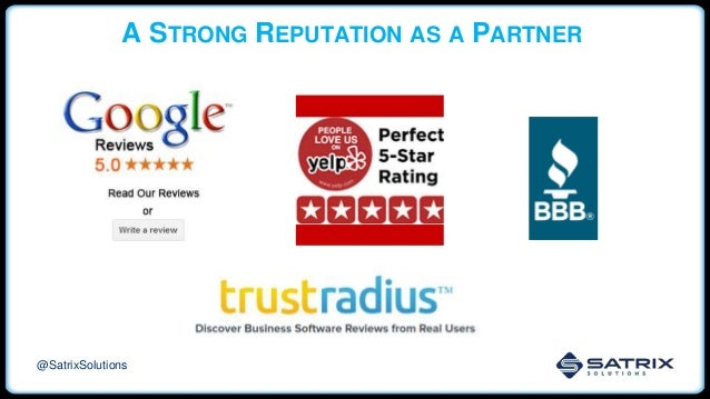 A STRONG REPUTATION AS A PARTNER @SatrixSolutions