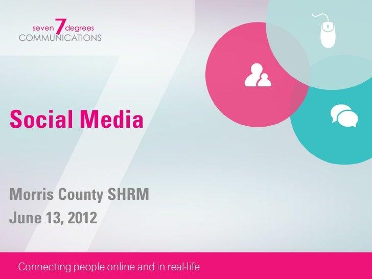 Social MediaMorris County SHRMJune 13, 2012