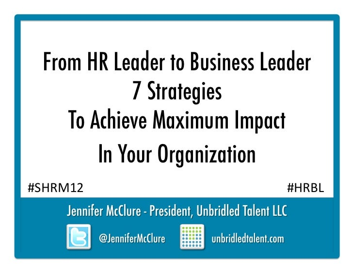 From HR Leader to Business Leader: