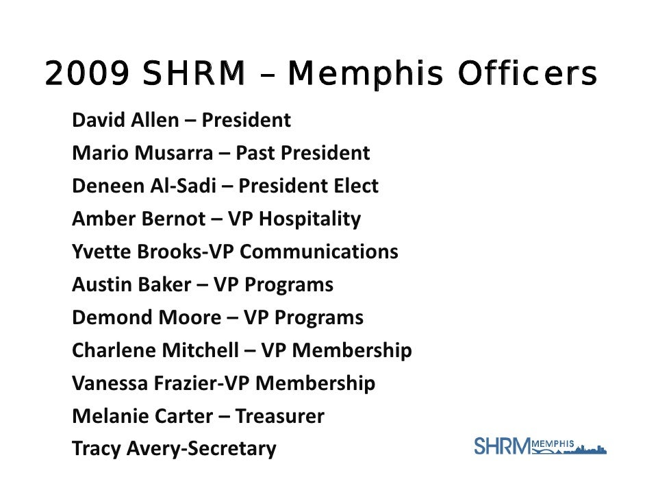 SHRM Memphis Aug Announcements