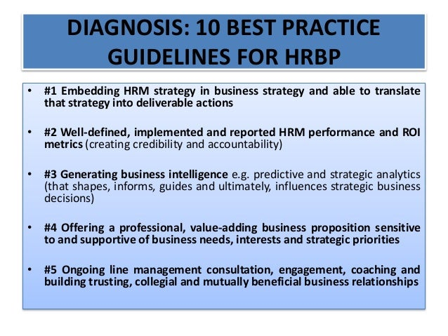 best practice hrm definition