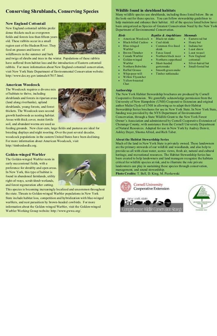 Conserving Shrublands, Conserving Species                                    Wildlife found in shrubland habitats         ...
