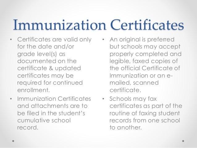 Shs immunizations immunization certificates altavistaventures Gallery