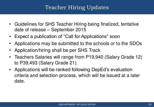 Shs Implementation Updates For Region 4 A