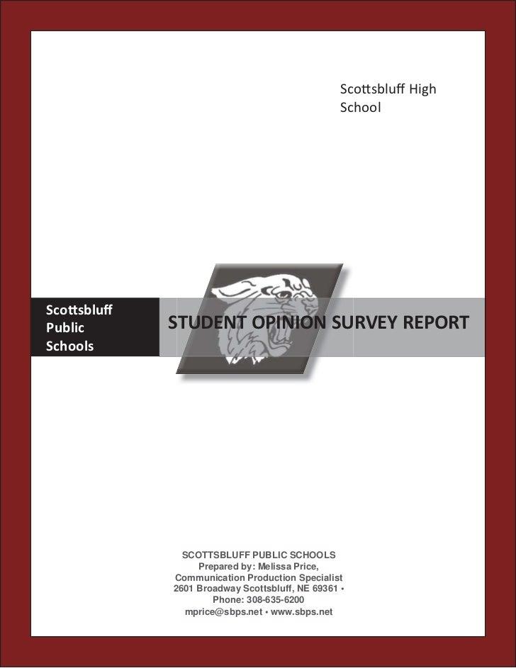 Sco sbluff High                                                SchoolSco sbluffPublic      STUDENT OPINION SURVEY REPORTScho...