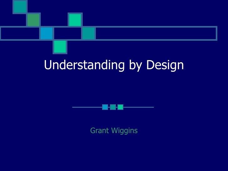 understanding by design wiggins pdf