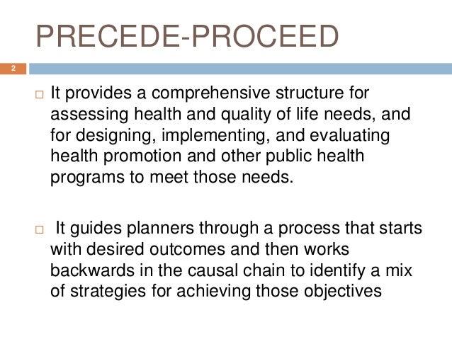 precede proceed model