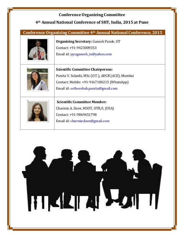 Conference Organizing Committee 4th Annual National Conference of SHT, India, 2015 at Pune Conference Organizing Committee...