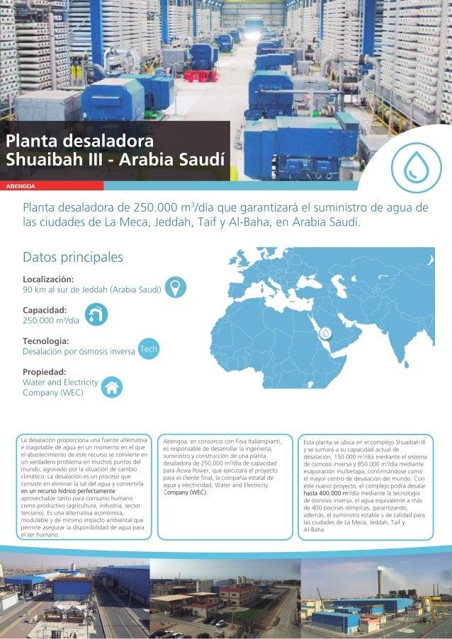 ABENGOA Plantadesaladorade250.000m3 /d�aquegarantizar�elsuministrodeaguade lasciudadesdeLaMeca,Jeddah,TaifyAl-Baha,enArabi...
