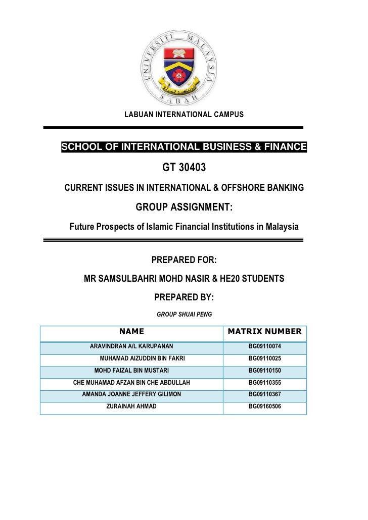LABUAN INTERNATIONAL CAMPUSSCHOOL OF INTERNATIONAL BUSINESS & FINANCE                            GT 30403CURRENT ISSUES IN...