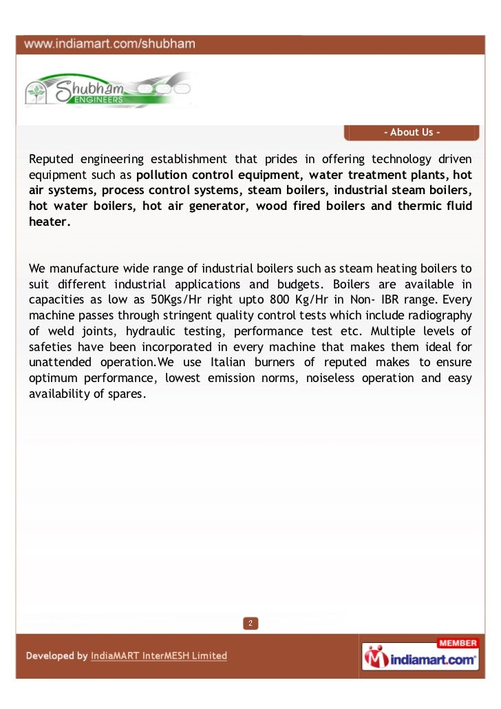 - About Us -Reputed engineering establishment that prides in offering technology drivenequipment such as pollution control...