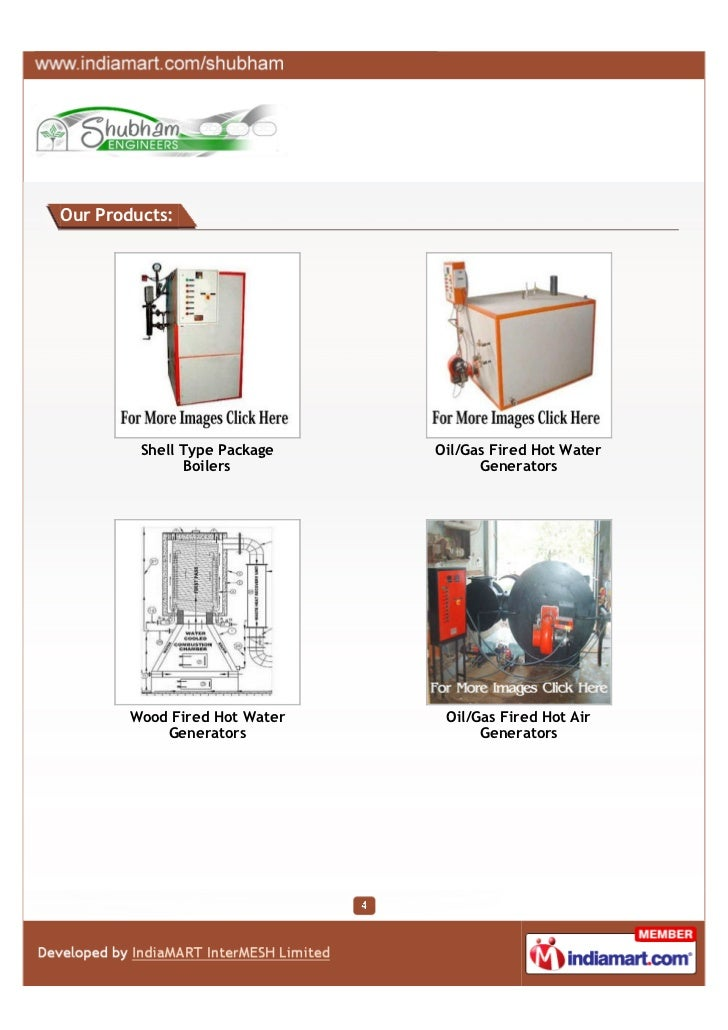 Our Products:         Shell Type Package   Oil/Gas Fired Hot Water               Boilers              Generators       Woo...