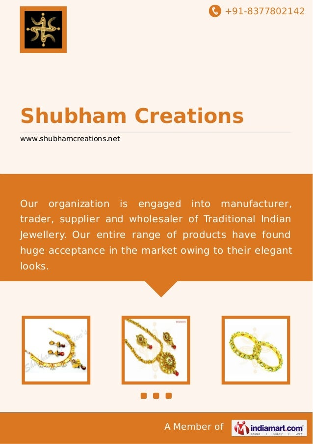+91-8377802142 A Member of Shubham Creations www.shubhamcreations.net Our organization is engaged into manufacturer, trade...