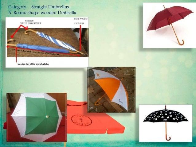 Category – Straight Umbrellas_ A. Round shape wooden Umbrella