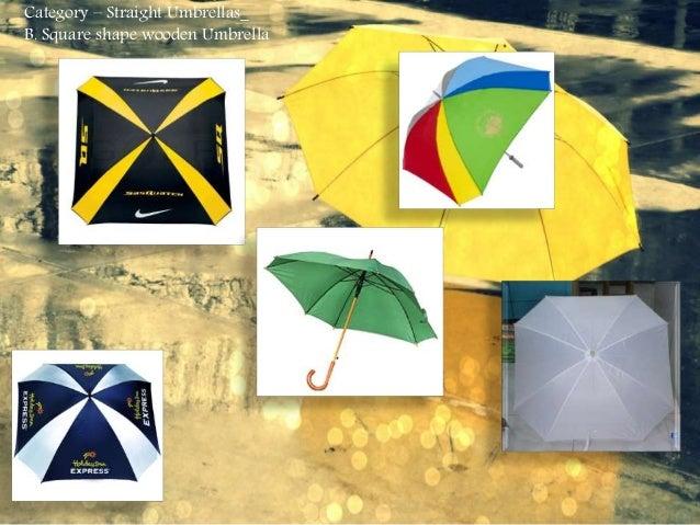 Category – Straight Umbrellas_ B. Square shape wooden Umbrella