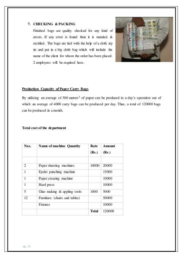 business plan for polythene bag production