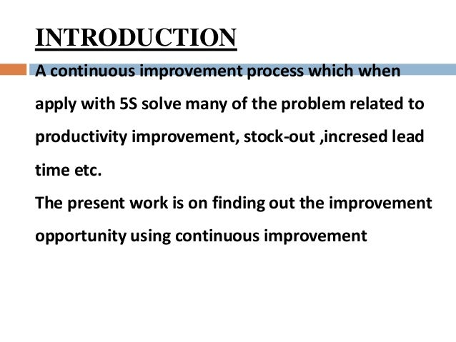 case study on kaizen implementation This case study describes how one of the  as long ago as 1961 and was the first to introduce 'kaizen  the implementation of agile methods in any.