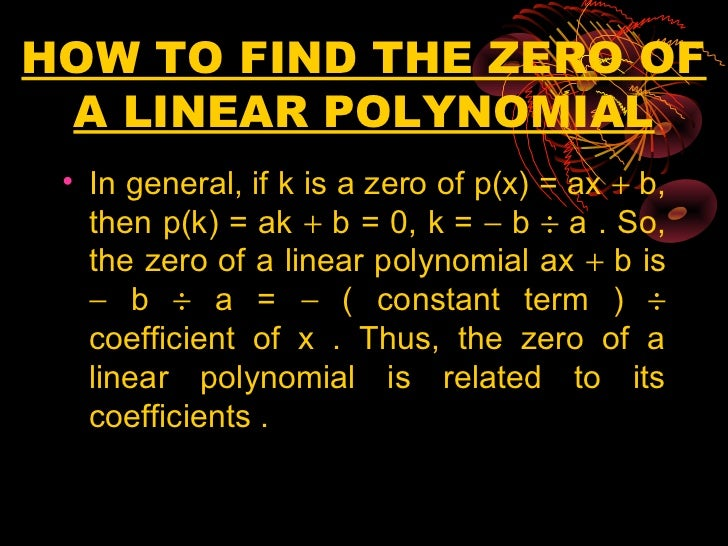 how to find coefficient of polynomial