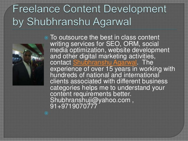 shubhranshu agarwal offers lance writing services 2